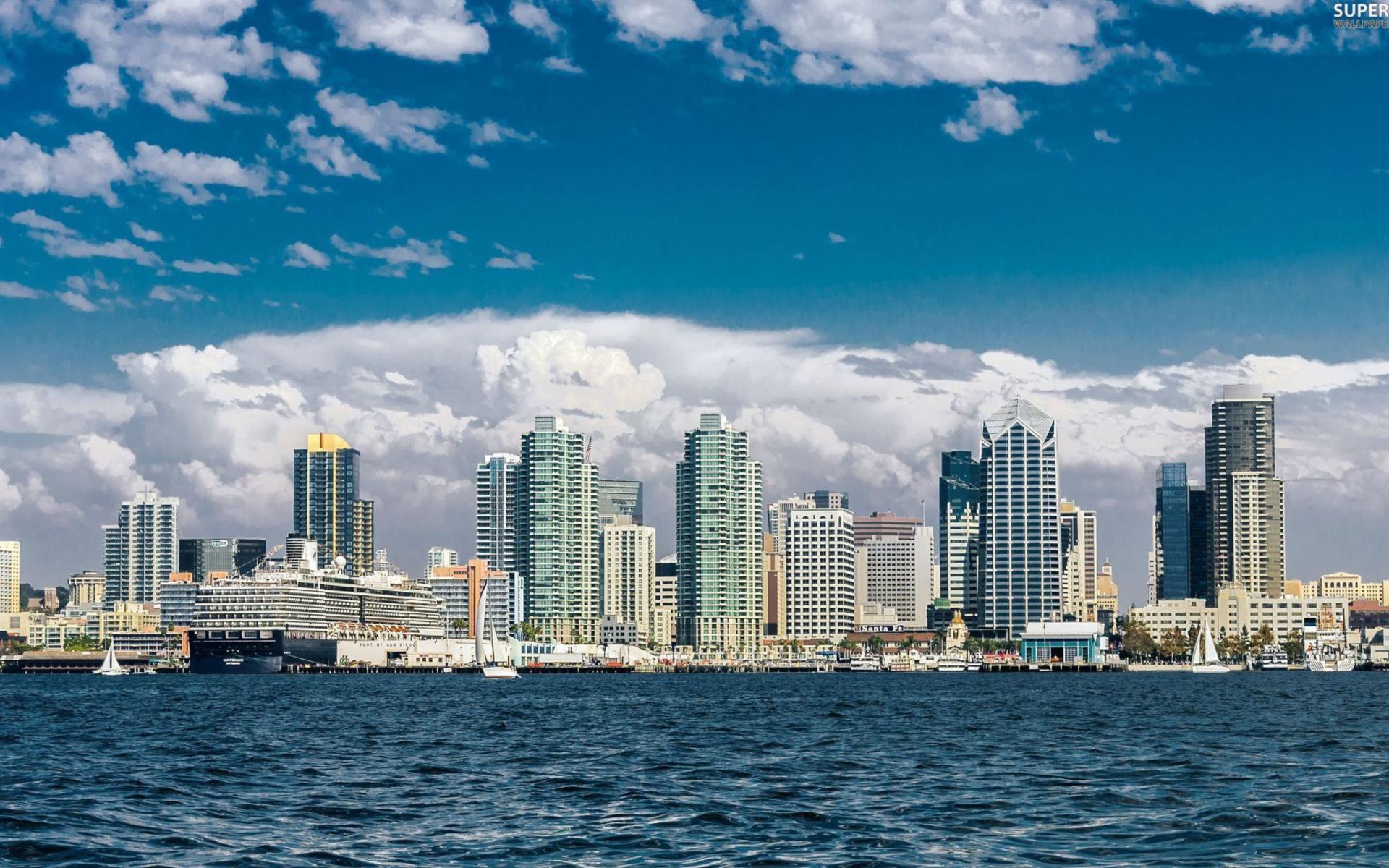 San Diego Skyline para Widescreen Desktop PC 1920x1080 Full HD