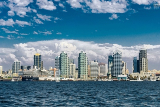 San Diego Skyline sfondi gratuiti per cellulari Android, iPhone, iPad e desktop