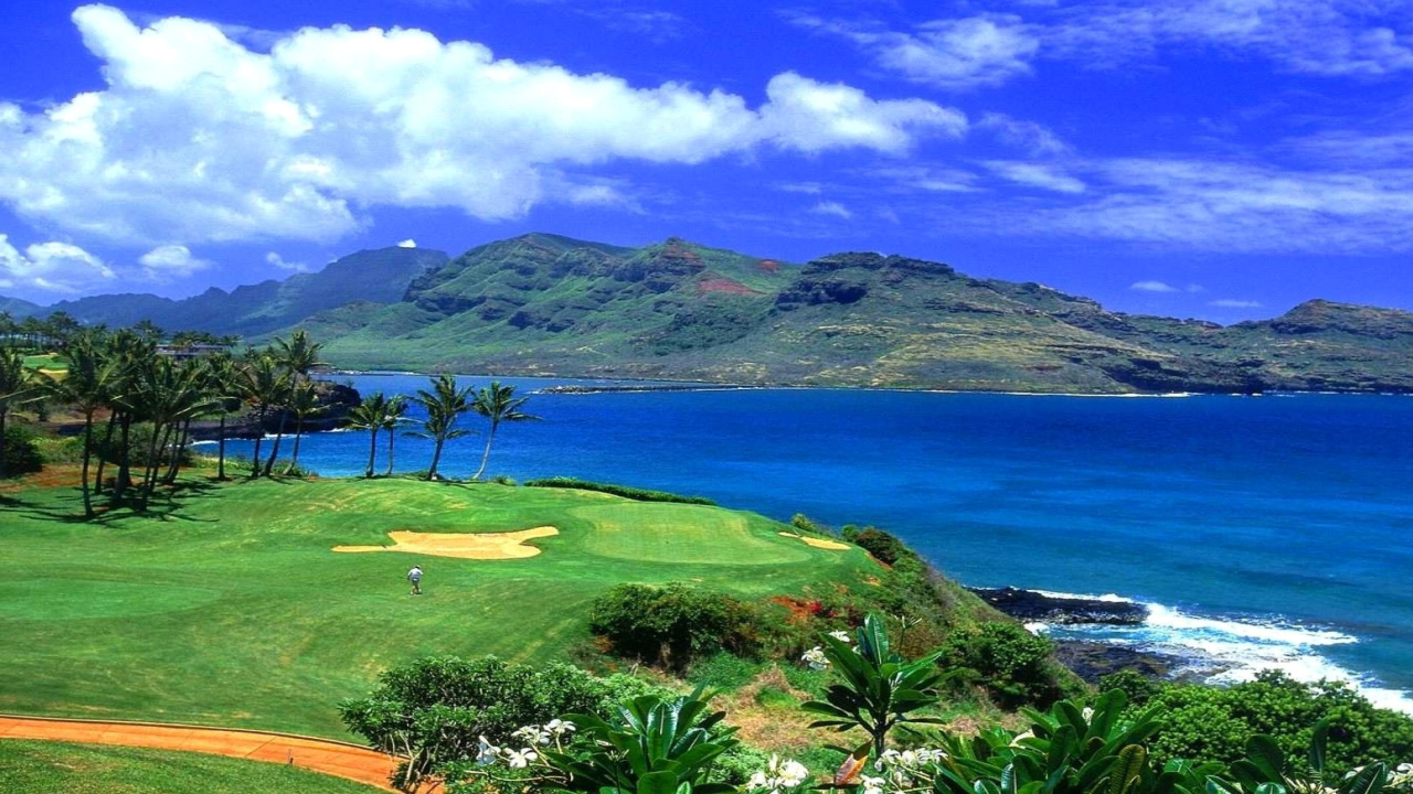 Screenshot №1 pro téma Paradise Golf Field 1280x720