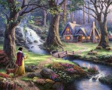 Thomas Kinkade, Snow White para 220x176