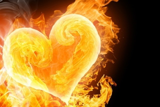 Love Is Fire Background for Android, iPhone and iPad