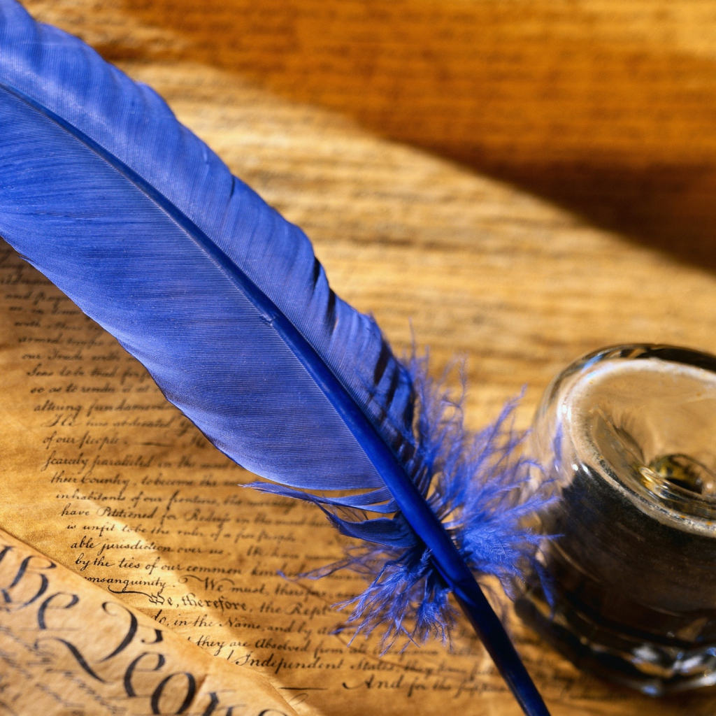 Screenshot №1 pro téma Blue Writing Feather 1024x1024