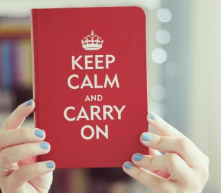Keep Calm And Carry On - Obrázkek zdarma pro iPad Air