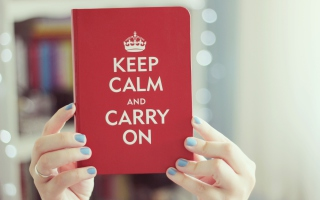 Keep Calm And Carry On Picture for Android, iPhone and iPad