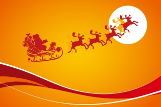 Kostenloses Santa Is Coming For Christmas Wallpaper für Android, iPhone und iPad