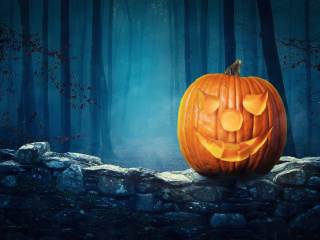 Screenshot №1 pro téma Pumpkin for Halloween 320x240