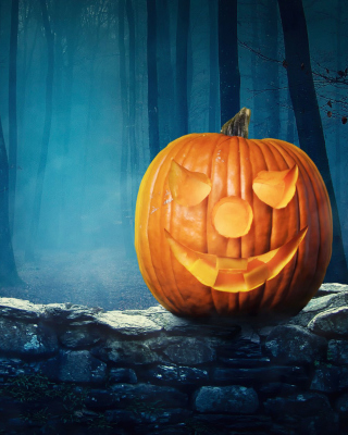 Free Pumpkin for Halloween Picture for Nokia Asha 310