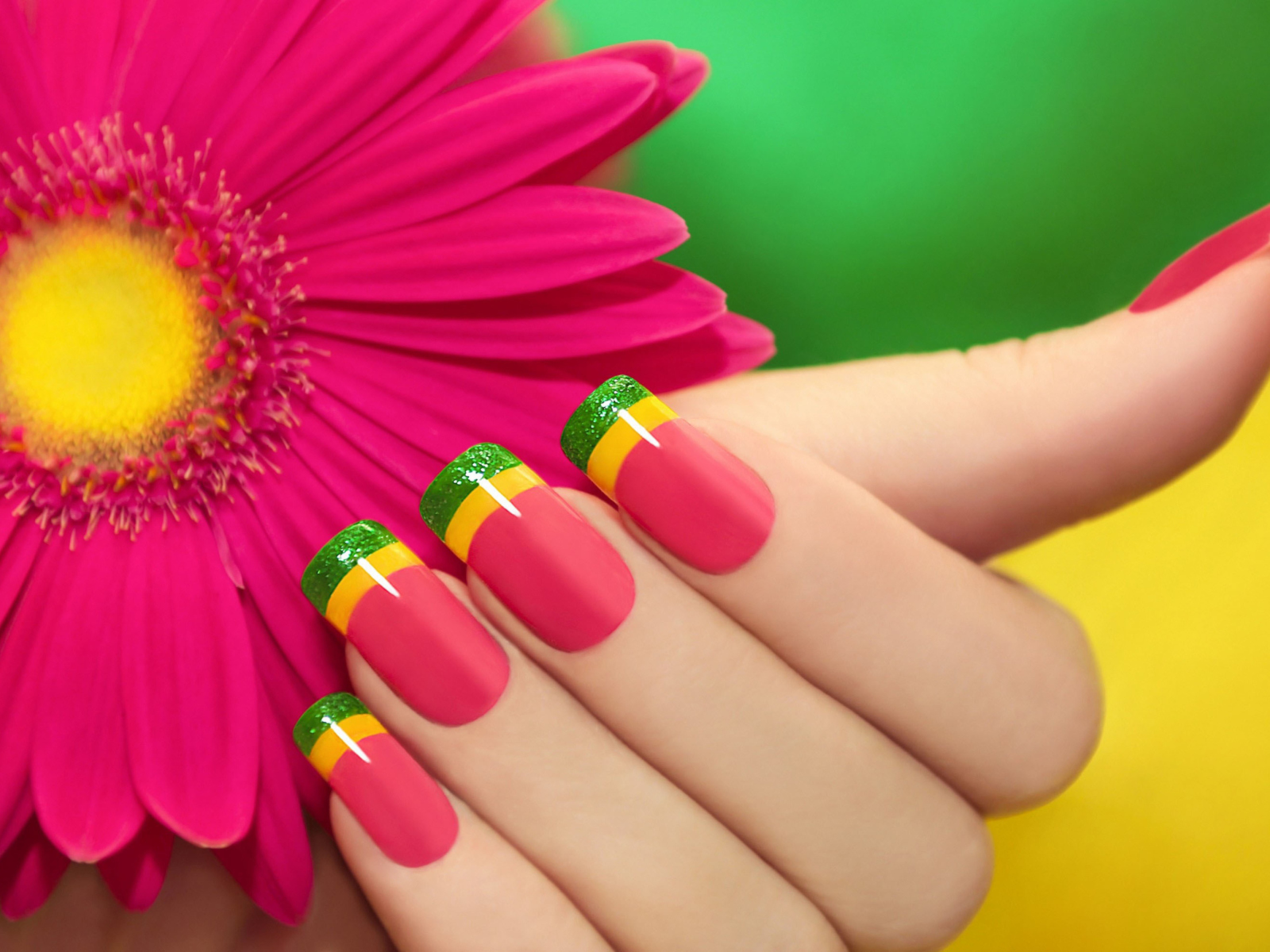 Screenshot №1 pro téma Colorful Nails 1600x1200