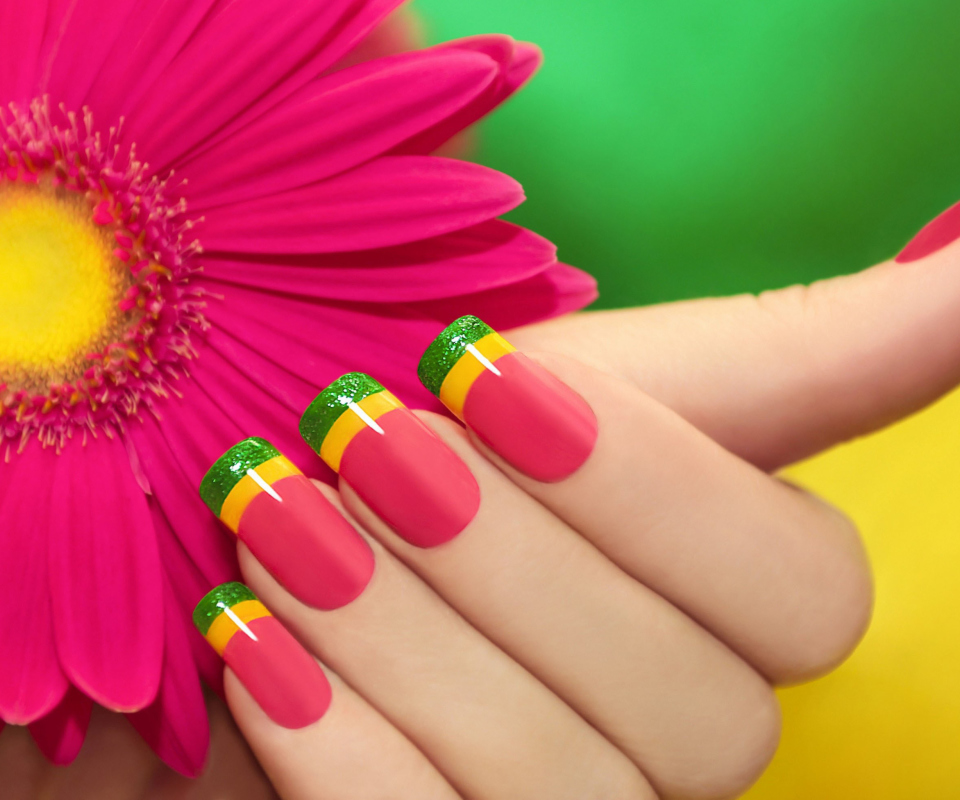 Screenshot №1 pro téma Colorful Nails 960x800