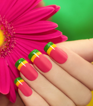Colorful Nails sfondi gratuiti per iPhone 6 Plus
