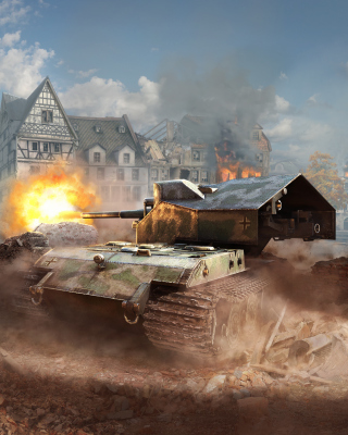 World of tanks, Waffentrager auf E 100 Background for iPhone 6 Plus