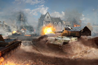 World of tanks, Waffentrager auf E 100 Picture for Android, iPhone and iPad