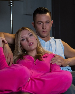Don Jon Film with Joseph Gordon Levitt and Scarlett Johansson Background for Nokia Asha 306