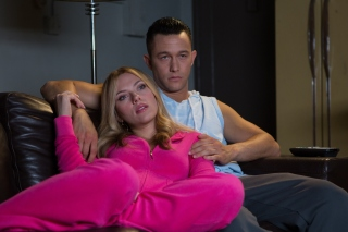 Don Jon Film with Joseph Gordon Levitt and Scarlett Johansson Background for HTC Desire HD