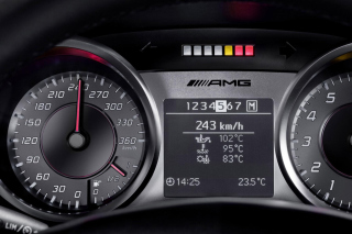 Free Mercedes AMG Speedometer Picture for Android, iPhone and iPad