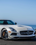 Screenshot №1 pro téma Mercedes Benz SLS AMG Black Series 128x160
