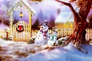 Christmas Snowmen Picture for Android, iPhone and iPad