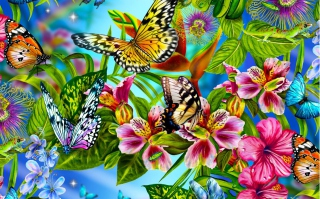 Discover Butterfly Meadow Background for Android, iPhone and iPad
