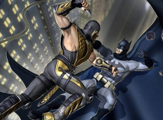 Scorpion Vs Batman sfondi gratuiti per cellulari Android, iPhone, iPad e desktop