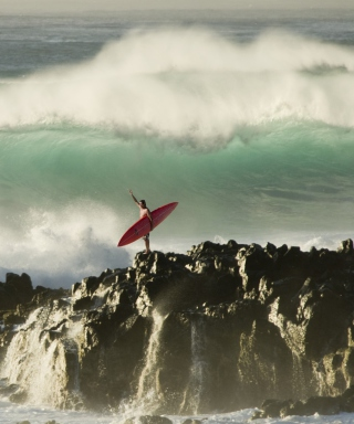 Extreme Surfing Background for 640x1136