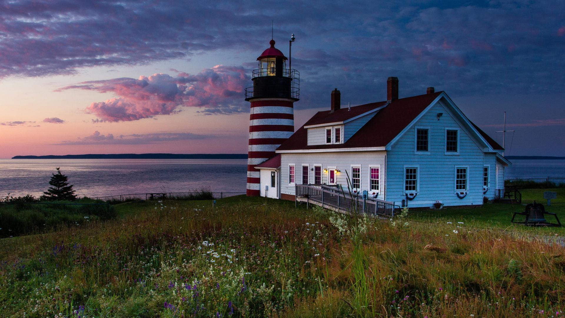 U.S. State Of Maine Lighthouse Wallpaper for Desktop ...