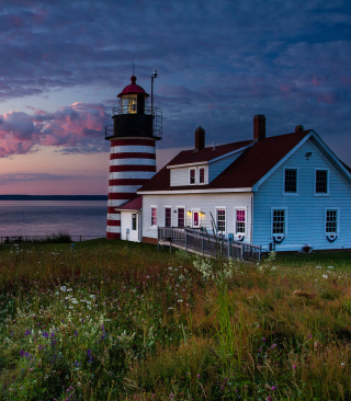 U.S. State Of Maine Lighthouse papel de parede para celular para iPhone 5C