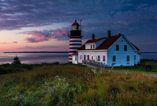 Обои U.S. State Of Maine Lighthouse на 1280x720