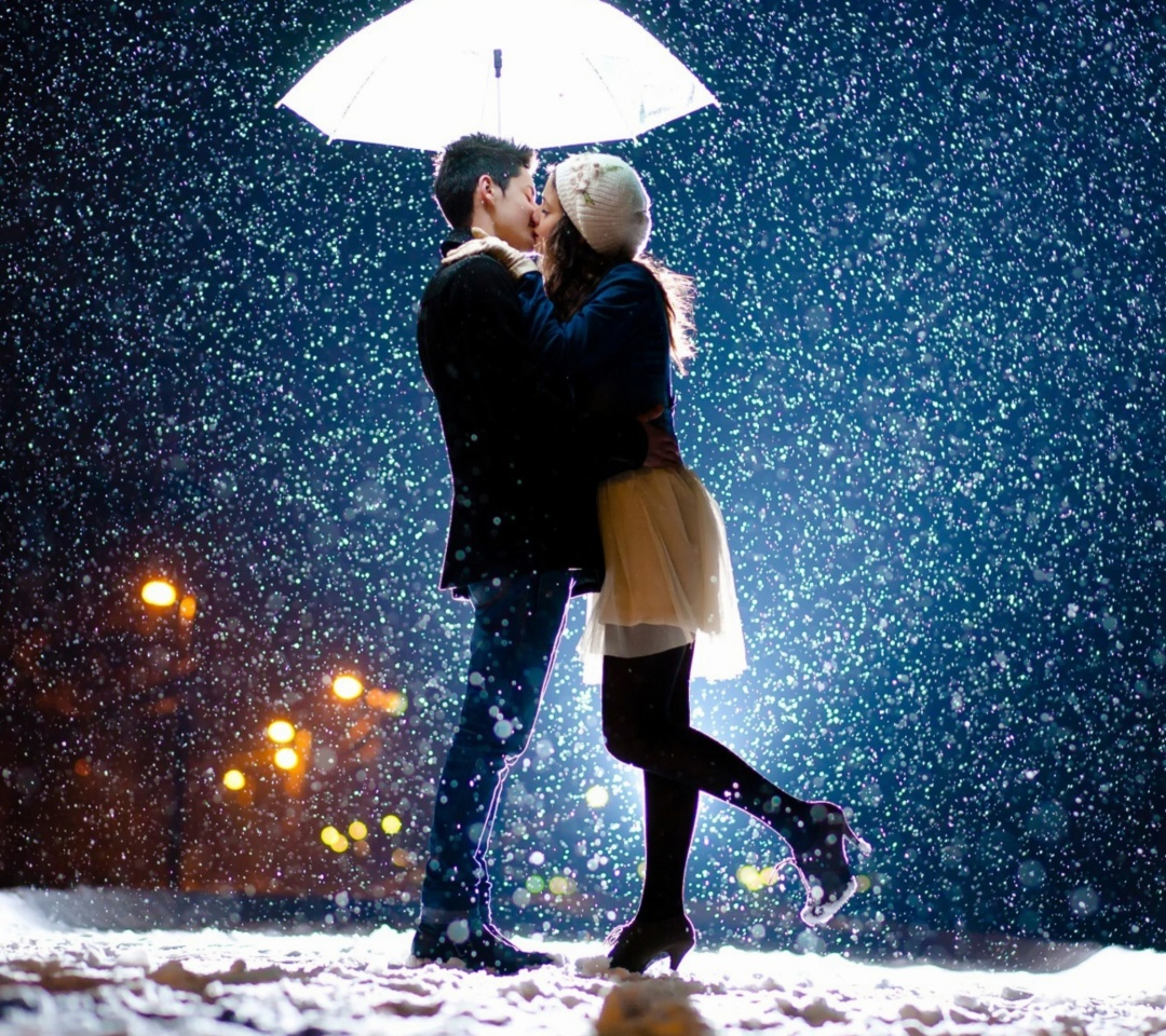 Screenshot №1 pro téma Kissing under snow 1080x960