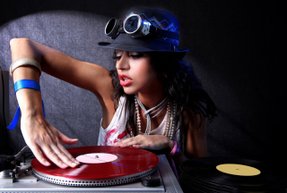 Dj Girl Background for Android, iPhone and iPad