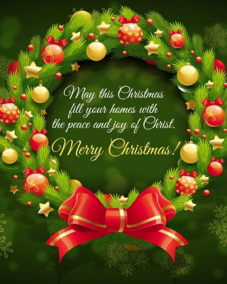 Merry Christmas 25 December SMS Wish papel de parede para celular para 750x1334