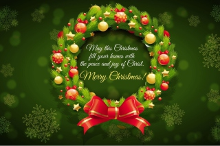 Merry Christmas 25 December SMS Wish Wallpaper for Android, iPhone and iPad