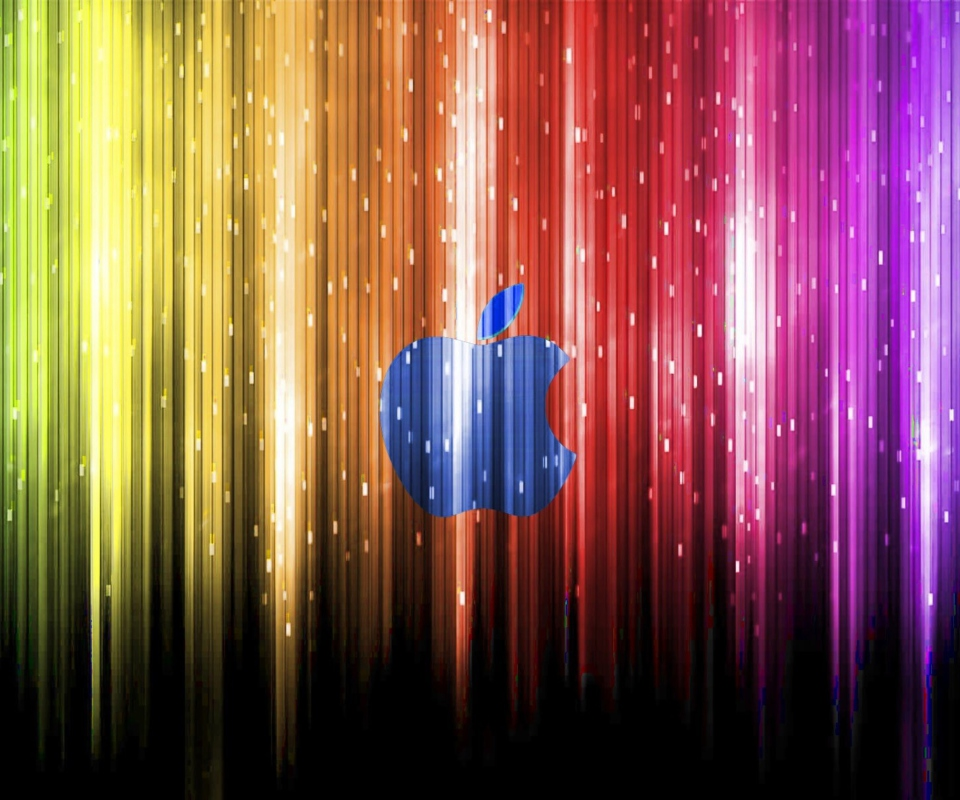Sparkling Apple Logo wallpaper 960x800