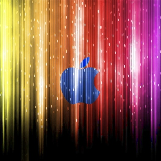 Sparkling Apple Logo Background for 2048x2048