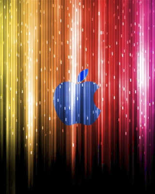 Sparkling Apple Logo Wallpaper for iPhone 6
