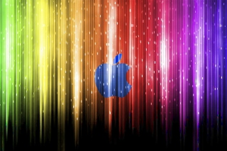 Sparkling Apple Logo Wallpaper for Samsung Galaxy Note 2 N7100