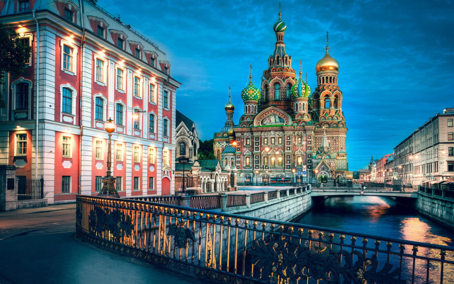Church Of Savior On Spilled Blood In St. Petersburg para Widescreen Desktop PC 1920x1080 Full HD