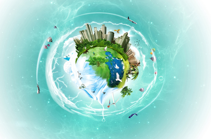 Das Planet Earth Fantasy Wallpaper