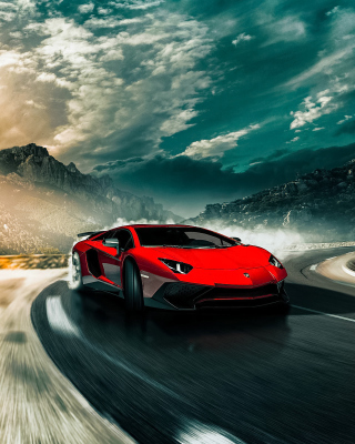 2016 Lamborghini Aventador SV LP750 4 Background for iPhone 5C