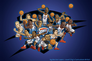Free Oklahoma City Thunder Team Picture for Android, iPhone and iPad