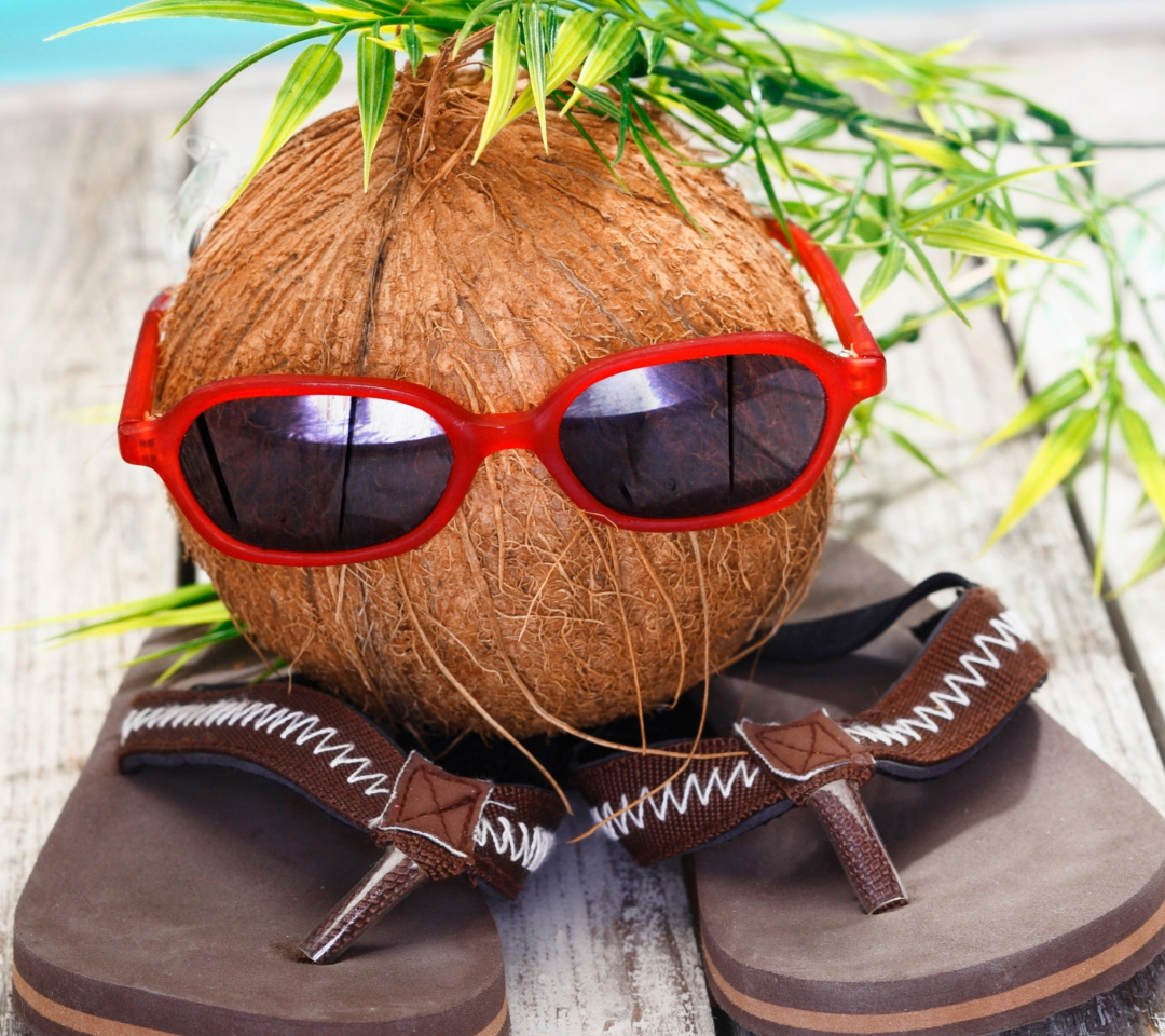 Funny Coconut wallpaper 1080x960