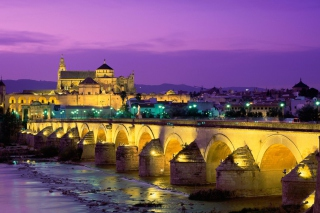 Roman Bridge - Guadalquivir River Background for Widescreen Desktop PC 1920x1080 Full HD