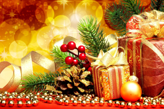 Handmade Xmas Gifts Wallpaper for 1080x960