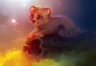 Cute Cheetah Painting sfondi gratuiti per cellulari Android, iPhone, iPad e desktop