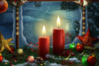 Lighted Candles Picture for Android, iPhone and iPad