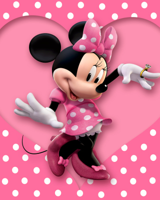 Minnie Mouse Polka Dot Wallpaper for Nokia Asha 306