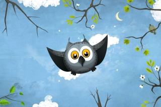 Cute Owl Art Background for Android, iPhone and iPad