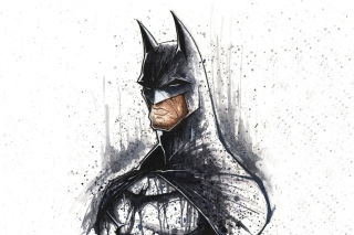 Batman Illustration Wallpaper for Android, iPhone and iPad