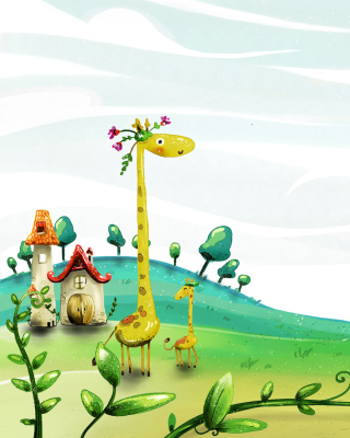 Vector Spring Giraffes Wallpaper for Nokia C1-01