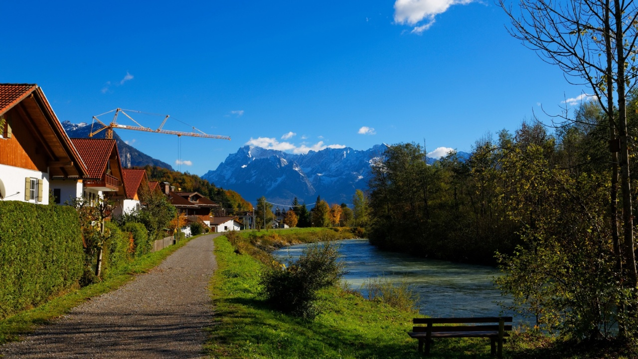 Oberau Germany wallpaper 1280x720