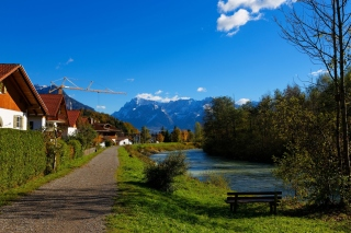 Oberau Germany Background for Android, iPhone and iPad